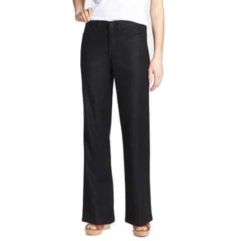 NYDJ Women's Skinny Ankle Pull-On Jeans, Black, 14