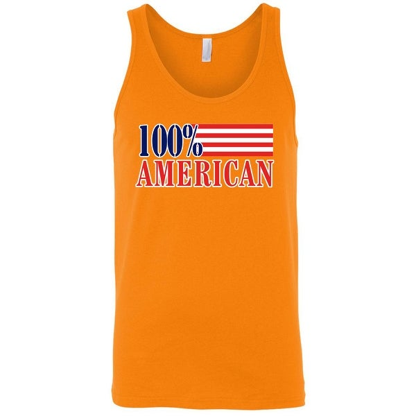 Men's USA Flag Tank Top Patriotic Pride 100-percent American Stars & Stripes Old Glory
