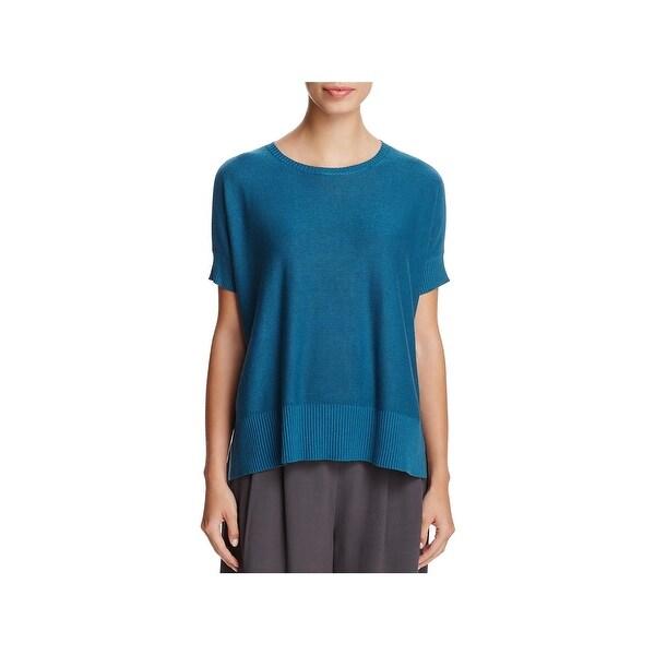 7cf2c9b9fe5 Shop Eileen Fisher Womens Sweater Tencel Dolman Sleeves - Free ...