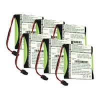 Replacement Battery For Panasonic P-P504 - Fits KX-T800, KX-TG200C, KX-TC1701, KX-TC1484B - 6 Pack