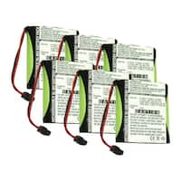 Replacement For Panasonic P-P504 Cordless Phone Battery (700mAh, 3.6v, NiMH) - 6 Pack