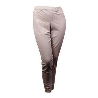 Charter Club Women's Tummy-Slimming Twill Skinny Pant (10, Cream Stone) - 10