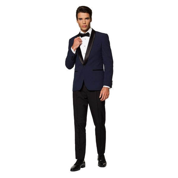 Blue and Black Midnight Festive Tuxedo Men Adult Suit - Small