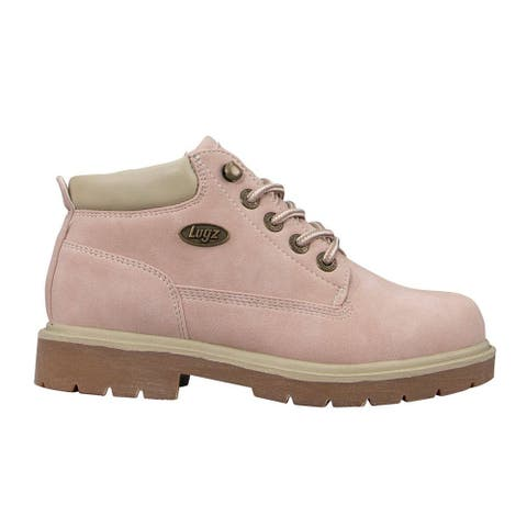 """Lugz Drifter Lx Lace Up Womens Boots Ankle Mid Heel 2-3"""" - Pink"""