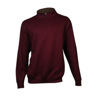 Tasso Elba Men's Quilted Quarter-Zip Sweatshirt (3XB, Port Heather) - port heather - 3xb