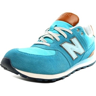New Balance KL574 Youth  Round Toe Suede Blue Sneakers