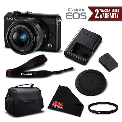 Canon EOS M100 Mirrorless Digital Camera +15-45mm Lens (Black)