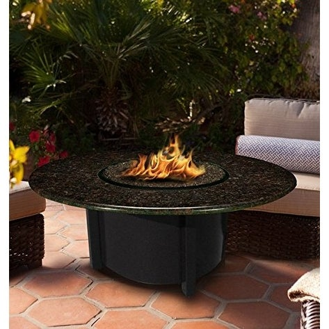 California Outdoor Concepts 5010-BK-PG2-BM-42 Carmel Chat Height Fire Pit-Bla...