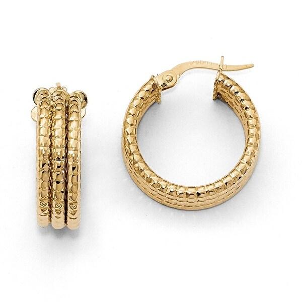 Italian 14k Yellow Gold Hoop Earrings