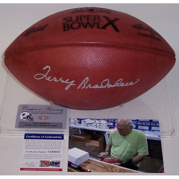 a4ddcd09d0a Shop Terry Bradshaw Autographed Hand Signed Super Bowl 10 X Official NFL  Leather Football - PSA DNA - Free Shipping Today - Overstock - 13075555