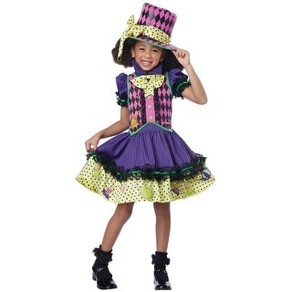 California Costumes Deluxe Mad Hatter-ess Child Costume - Purple