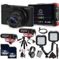 Sony Cyber-shot DSC-RX100 Digital Camera (Black) International Version  Essential Vlogging Kit