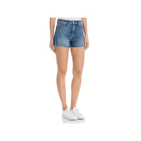 Hudson Womens Sade Cutoff Shorts Denim Striped