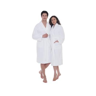 Ozan Premium Home Serene Collection 100% Turkish Cotton Unisex Terry Cloth Bathrobe