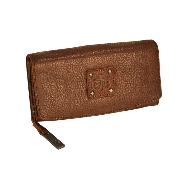 STS Ranchwear Western Wallet Womens Leather Snap O/S Brown - One size