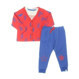 Rosie Pope Baby Super Duper Superhero Pant Outfit Infant Boys Graphic - 12 MO