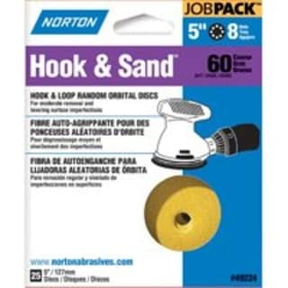 "Norton 07660749224 Hook & Loop Sanding Disc, 5"" X 8 Hole"
