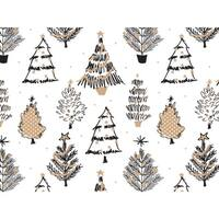 """Golden Holiday Trees 24""""x417' Roll Gift Wrap"""