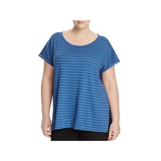 Lysse Womens Plus Harbor Casual Top Slub Cuffed