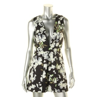 Lucy Paris Womens Floral Print Sleeveless Romper