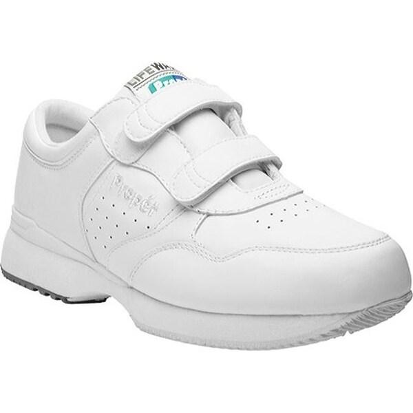 Propet Men's LifeWalker Strap Shoe White