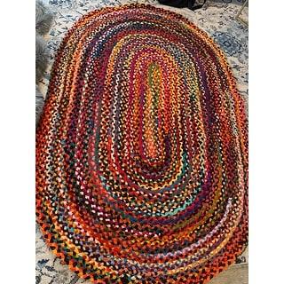 nuLOOM Boho Handmade Braided Cotton Area Rug