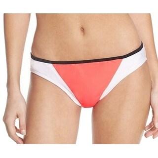 Zella NEW Coral Orange White Women's Size XL Bikini Bottom Swimwear