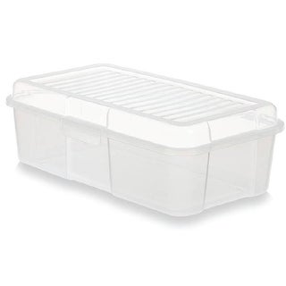 Rubbermaid RMOC015001 Snap Case Storage Tote, Clear
