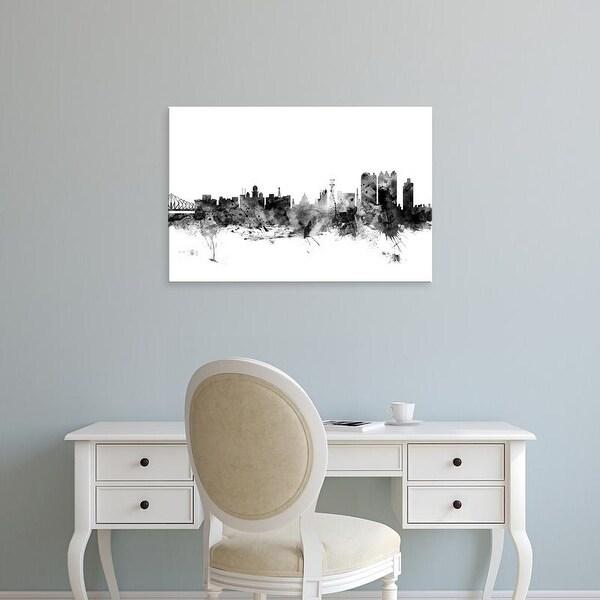 Easy Art Prints Michael Tompsett's 'Calcutta (Kolkata) India Skyline' Premium Canvas Art
