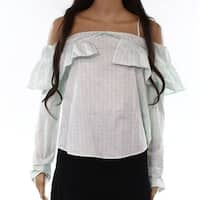 Abound Women's Small Cold-Shoulder Ruffle-Detail Top