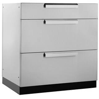 NewAge Products Outdoor Kitchen Classic 32 Inch W x 23 Inch D 3-Drawer Cabinet (4 options available)