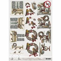 SB10054 Find It Trading Amy Design Brocante Christmas Punchout Sheet
