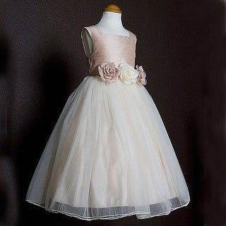 Kids Dream Girls Dusty Rose Silk Tulle Flower Girl Easter Dress 8-12 (3 options available)