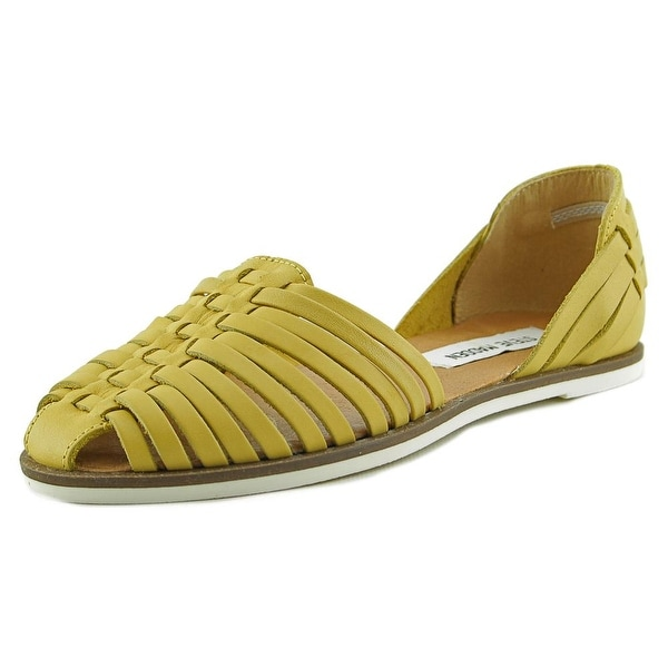 Steve Madden Hillarie Women Round Toe Leather Flats