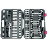 Crescent CTKGW85MP SAE/Metric Socket Wrench Set, 85 Piece