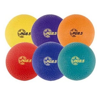Champion Sports Playground Ball Set (Nylon/Assorted Colors/6-Pack)