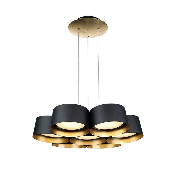 """Modern Forms PD-52724 Marimba 7-Light 24"""" Wide Integrated LED Chandelier - n/a"""