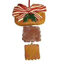 "6"" Dangling Holly Berry Cookie Christmas Ornament"