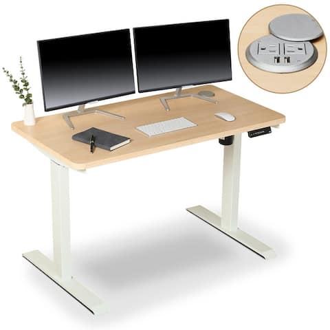 BRODAN Electric Standing Desk, Adjustable Height Office Desk, 48 x 24