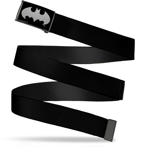 Batman Reverse Brushed Cam Black Webbing Web Belt