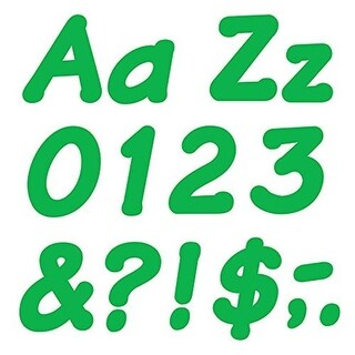 Trend Enterprises 4 in. Italic Ready Letters, Green - Pack of 6