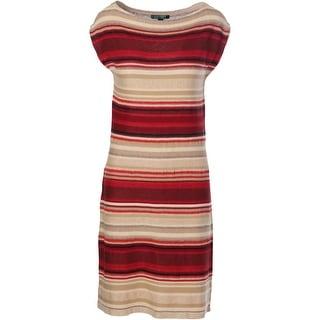 Lauren Ralph Lauren Womens Linen Sleeveless Wear to Work Dress