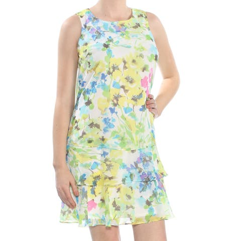 AMERICAN LIVING Yellow Sleeveless Above The Knee Dress 10