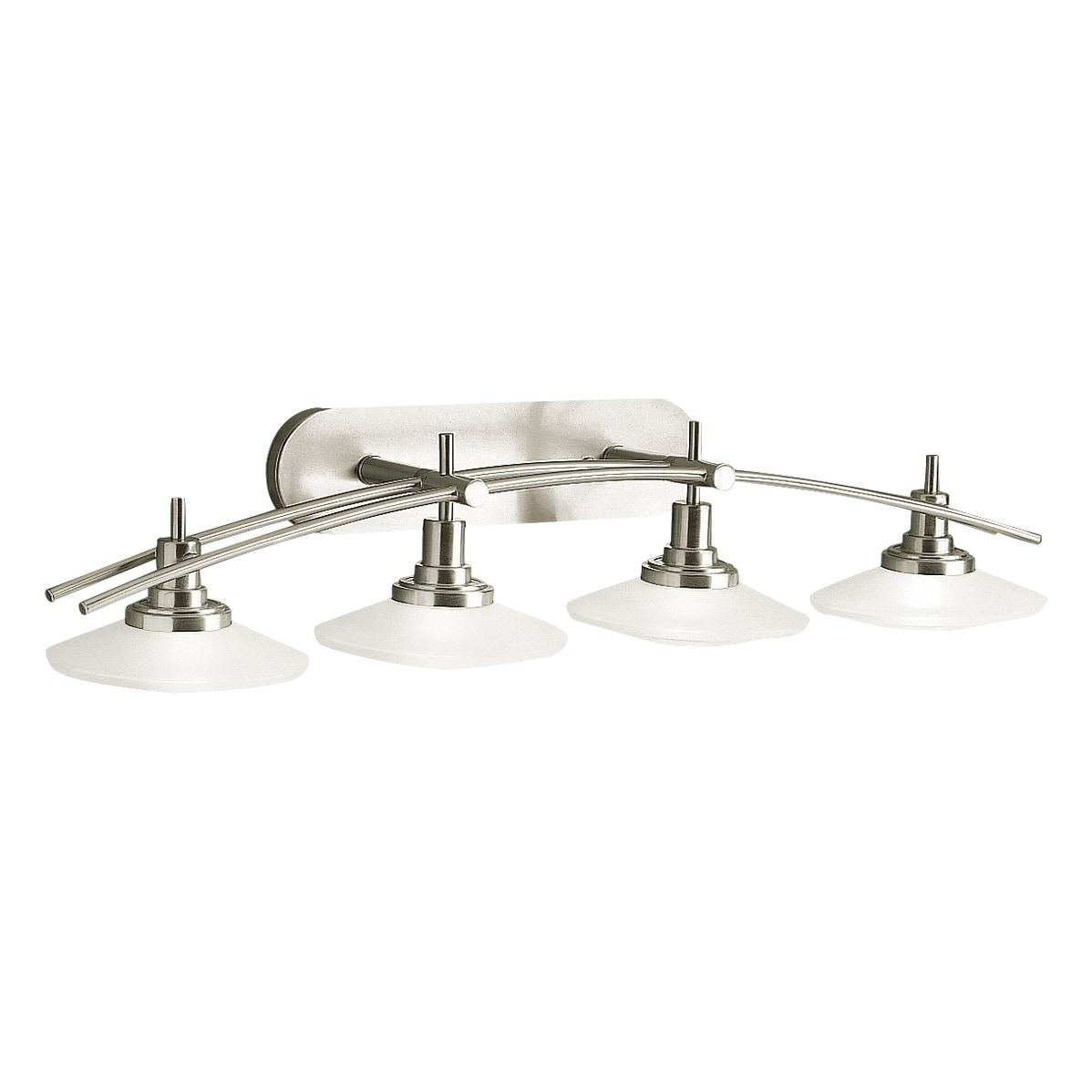 Kichler Lighting Structures Collection 4 Light Brushed Nickel Bath Vanity Light Overstock 12183847