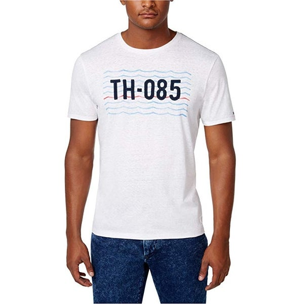 f6776447 Shop Tommy Hilfiger Men's Graphic Print T-Shirt White Size Small ...