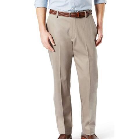 Dockers Mens Khaki Pants Beige Size 44x30 Big & Tall Classic Fit Stretch
