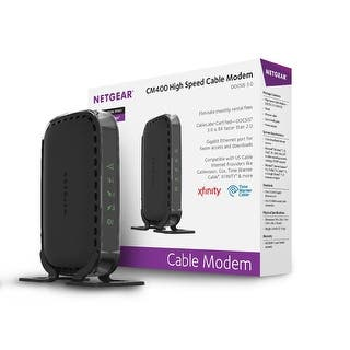 Netgear Cm400 Cm400-100Nas Docsis 3.0 High Speed Cable Modem https://ak1.ostkcdn.com/images/products/is/images/direct/cde9e4fe3bbb157e2e3e1610c9a5a214dd62c7ad/Netgear-Cm400-Cm400-100Nas-Docsis-3.0-High-Speed-Cable-Modem.jpg?impolicy=medium