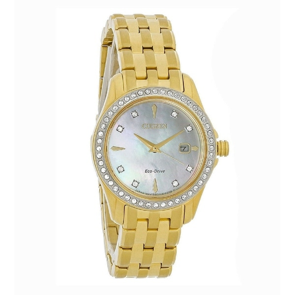 Citizen Women's EW1907-78D 'Silhouette' Gold-Tone Stainless Steel Watch - Silver. Opens flyout.