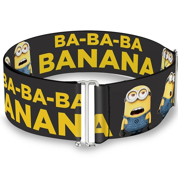 Minions Group Ba Ba Ba Banana Gray Yellow One Size Cinch Waist Belt ONE SIZE