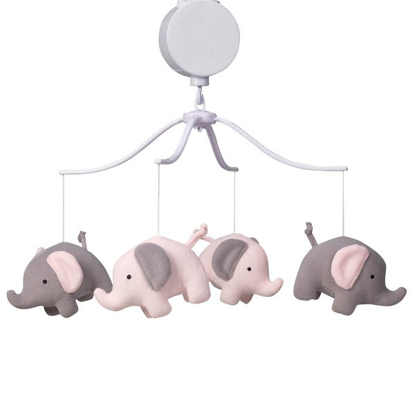 Shop Bedtime Originals Eloise Pink Gray Elephant Musical